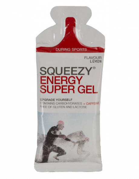 SQUEEZY Гель энергетический ENERGY SUPER GEL лимон+кофеин, 33 г Артикул: GE1006-U
