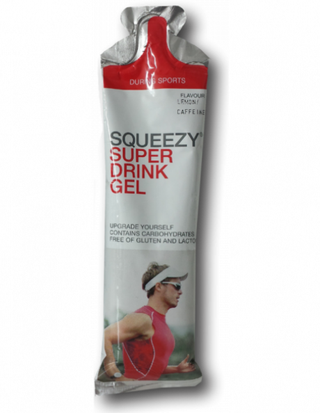 SQUEEZY Гель питьевой SUPERDRINKGELлимон+кофеин,60мл Артикул: GE1035