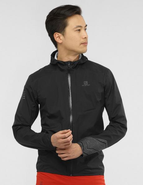 SALOMON Куртка мужская BONATTI WP Black/Reflective Артикул: LC1372100