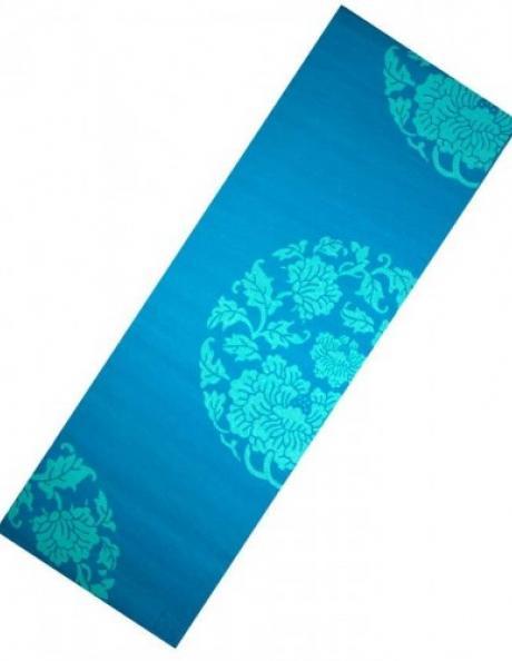LIVEUP Коврик для йоги PVC PRINTED BLUE 6 мм Артикул: LS3231c-06b