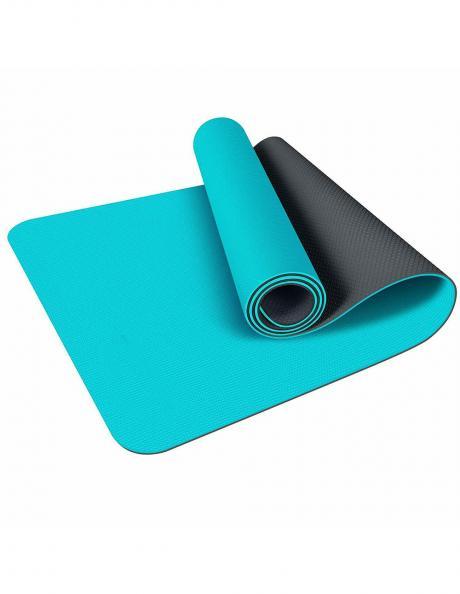 LIVEUP Мат для йоги TPE Blue-Black 6 мм Артикул: LS3237-bb