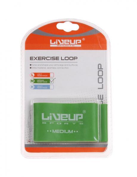 LIVEUP Фитнес-резинка LATEX LOOP MEDIUM Green 50 см Артикул: LS3650-500Mg