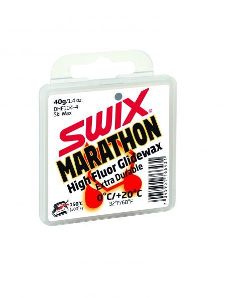 SWIX Мазь скольжения DHF104 WHITE MARATHON (0...+20), 40 г Артикул: DHF104-4