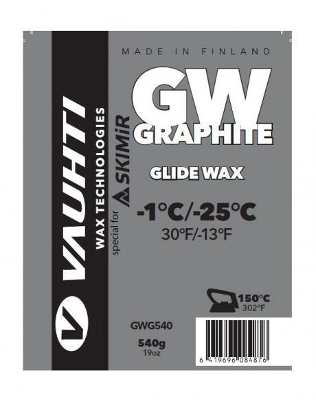 VAUHTI Парафин GLIDE WAX GRAPHITE (-1/-25), 540 г Артикул: GWG540-Skimir