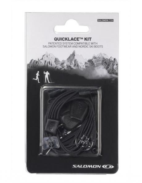 SALOMON Шнурки QUICKLACE KIT BLACK Артикул: L32667200