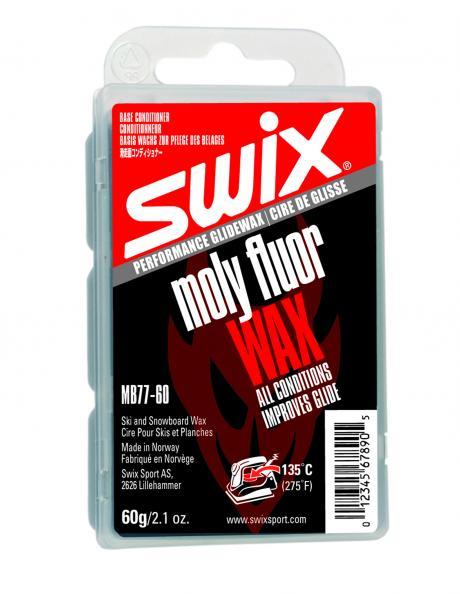 SWIX Мазь скольжения базовая MOLY FLUORO BASE, 60 г Артикул: MB077-6