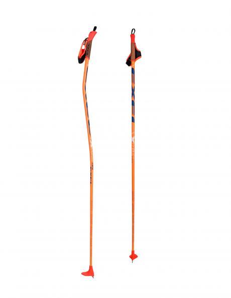 EXEL Лыжные палки X-CURVE X-45 JR ORANGE/BLUE Артикул: XCC15005