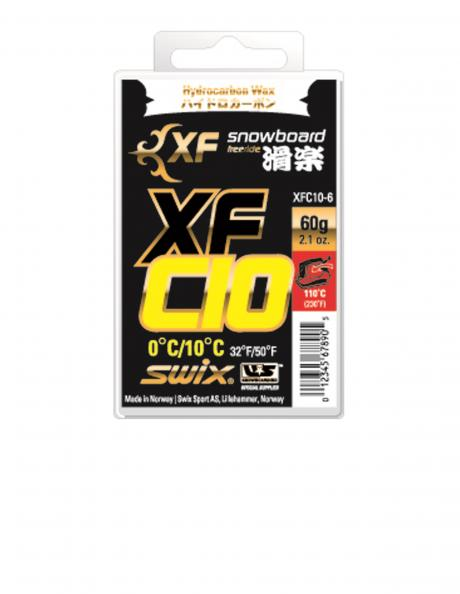 SWIX Мазь скольжения XFC10 YELLOW (0...+10), 60 г Артикул: XFC10-6