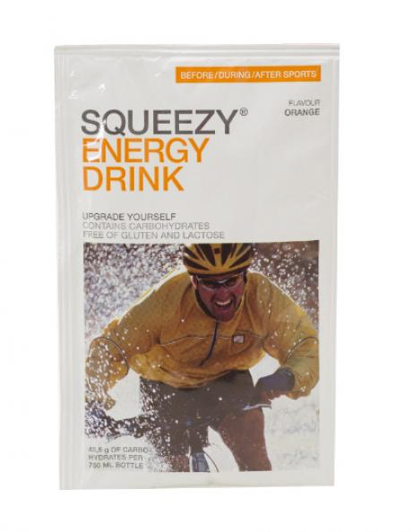 SQUEEZY Изотонический напиток ENERGY DRINK апельсин 12x50 г Артикул: PU0044