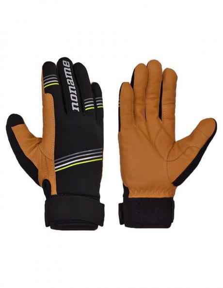 NONAME Перчатки PURSUIT GLOVES 19 гоночные кожаные, черный/бежевый Артикул: PURSUIT GLOVES 19
