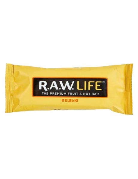 """R.A.W LIFE Батончик """"Кешью"""", 47 г Артикул: RAWLIFE-01"""