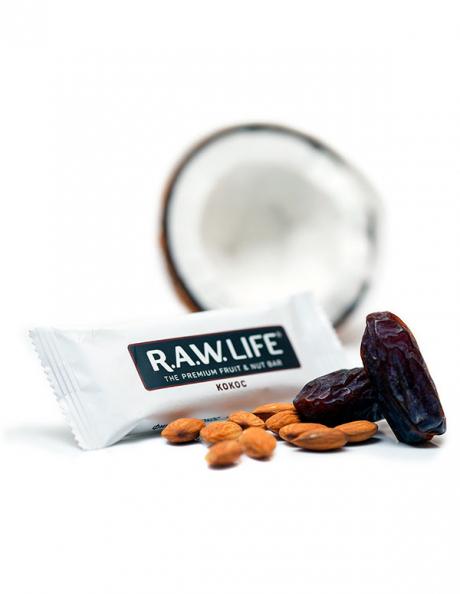 "R.A.W LIFE Батончик ""Кокос"", 47 г Артикул: RAWLIFE-02"