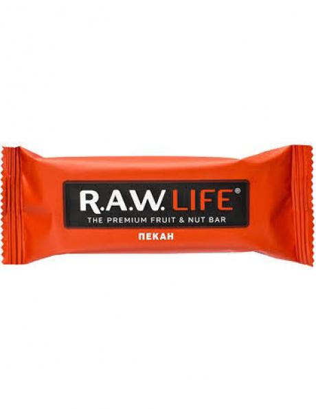 "R.A.W LIFE Батончик ""Пекан"", 47 г Артикул: RAWLIFE-03"