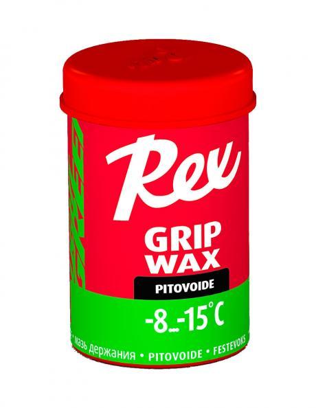 REX Мазь держания 105 GRIP WAX GREEN (-8/-15), 45 г Артикул: rex-105