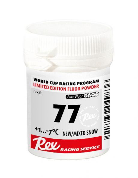 REX Фторовый порошок  Racing Service 77 для свежего/смешанного снега(+1/-7) Артикул: rex-20498-77