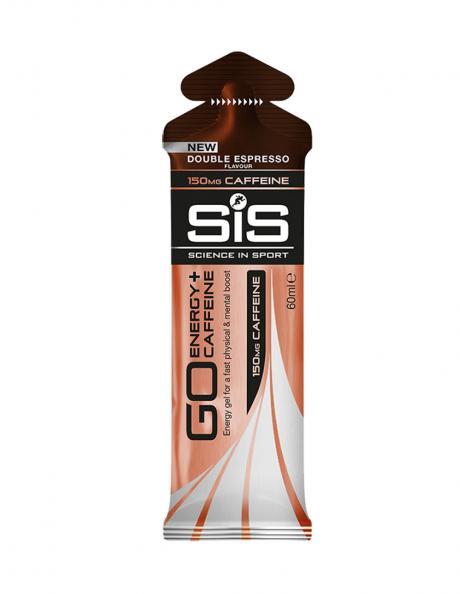 SIS Гель изотонический углеводный с кофеином 150 мг GO ENERGY + CAFFEINE GEL двойной эспрессо, 60 мл Артикул: 5025324022755