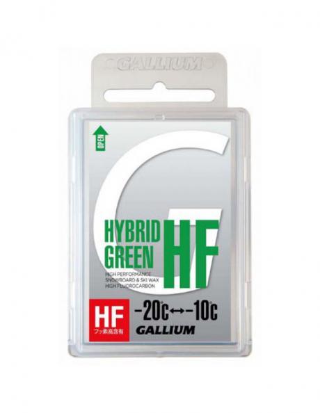 GALLIUM Высокофторовый парафин HYBRID HF GREEN Артикул: SW2150