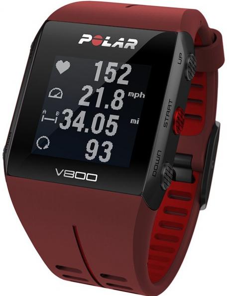 POLAR Спортивные часы V800 HR RED Артикул: 90060774